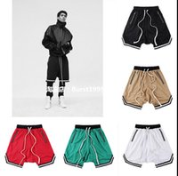 Wholesale Khaki Harem Shorts - Wholesale- Men Shorts Net breathable Fear Of God Sweatpants Justin Bieber Harem Shorts loose Kanye West Men Trousers Shorts