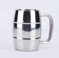 Wholesale Mass Steels - Beer cup stainless steel beer milk cup of coffee tea cup children drinking 300-400ml High-capacity Stainless steel Factory mass production