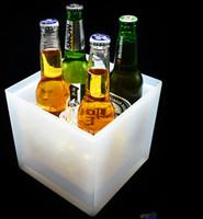 ingrosso refrigeranti a base di vino-Illuminazione a LED Benne per il vino Secchiello per ghiaccio e raffreddatori Doppia illuminazione a caldo a esplosione Illuminazione per secchiello per il ghiaccio Promozione Durevole