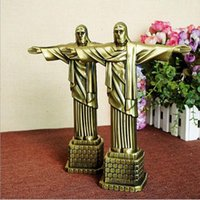 Wholesale Metal Craft Ornaments - Metal crafts Christian Statue of Jesus Arts and Crafts Christian gifts Character Jesus model 17*7*21cm DHL