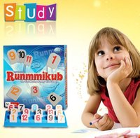 Оптовый классический Rummikub Israel Mahjong The Fast Moving Rummy Tile Game (WIth Original Box)