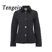 Wholesale women quilted coat winter - Wholesale- Autumn Winter Womens Jackets And Coats Wadded Quilted Jacket Plus Size Female Women Basic Coats Campera Mujer Chaquetas SJM