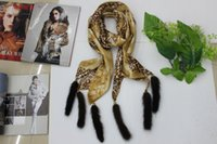Wholesale mink scarfs - Wholesale-Hot leopard chiffon scarves cashmere scarf superstar style decorative shawls mink tail scarves brand scarves and shawls
