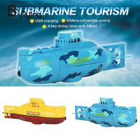 Wholesale Toy Ships Submarines - Wholesale- Free Shipping 6CH Speed Radio Remote Electric Mini RC Submarine Kids Children Toy