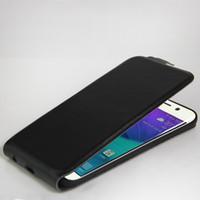 funda magnética iphone de apple al por mayor-Funda de cuero genuino para Samsung Galaxy S5 S6 S7 edge S8 Plus iphone 6 7 Funda con tapa magnética Funda con funda para fotos