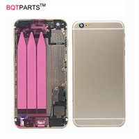 Wholesale Tray Back - 4.7INCH For iPhone 6S I6S Full Housing Metal Back cover Chassis with Assembly+Flex Cable+Card tray Grey Silver Gold