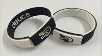 Wholesale Silicone Bracelet Energy New - New arrival fashion jewelry charm bracelet deuce finger silicone sport power wristband energy bangle balance lanyard free shipping