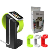 Wholesale Watch Charger - New Charging Stand Bracket Mount Holder for Apple Watch Iwatch Desktop Charger Station with Retail Box 4 Colors Available