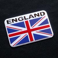Wholesale 3d alloy badge resale online - 100pcs Hot Selling Mix Flag Aluminum Alloy D Car Badge Emblem Sticker Emblems Badges Austria Flag Sticker Italy