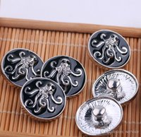 Wholesale Octopus Pendant Necklace - 12Pcs octopus Button 18mm Button Ginger Snap Charms Jewelry Interchangeable Jewerly Charms Pendants Necklace 2017 Christmas