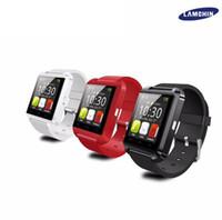 caixa do relógio de pulso dos miúdos venda por atacado-U8 Bluetooth relógio inteligente relógio de pulso da tela de toque para Android e iPhone 7 iOS com caixa de varejo