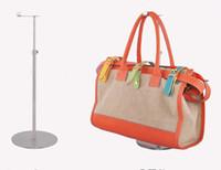 Wholesale standing purse rack online - 2017 New style Handbag Display Stand wig holder Top quality adjustable metal Bag Holder Stand Bag cap purse necktie silk scarf Display Rack