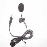 Wholesale Wire Clip Mic - Mini 3.5mm Hands Clip On Mini Mic Microphone For PC Notebook Laptop MSN 100pcs lot by DHL