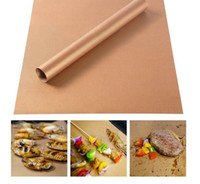 Wholesale Hiking Cooking - Barbecue Grilling Liner BBQ Copper Grill Mat Portable Non-stick Copper Chef Grill and Bake Mats Hiking Camping BBQ Pads Tool 33*40CM KKA1848