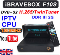 Wholesale Uk Maps Free - CPU1866MHZ iBRAVEBOX F10S HD PVR TwinTuner H.265 decode Built-in IPTV Free Test Support youtube google map weather CCcam iKS BissKey PowerVU