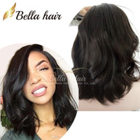 Wholesale Cheap Wavy Full Lace Wig - 100% Virgin Remy Human Hair Charming Mid-Length BOB Loose Wavy Cheap Lace Front Human Hair Wigs Natural Hairline Full Lace Wigs Bella Hair