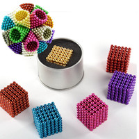 Wholesale Wholesale Neodymium Magnet Cube - Magnetic ball 216pcs 5mm Magic ball buckyballs Neocube neodymium Toy Neo Cubes Puzzle ball Toy Sphere Magnet Magnetic Bucky Balls OTH494