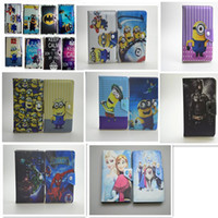 "Wholesale Despicable Casing - 7 Inch 7"" Universal Cartoon Pattern Despicable Me Super Hero Spider Man Tablet PC PU Leather Case Cover With Stand"