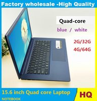 Wholesale Ultrabook 15 Inches - 2017 new 15.6 inch Quad core Win10 Laptops NOTEBOOK 4GB HDD 64GB ROM Laptop Itel Atom x5-Z8300 Z8350 HD Graphics Netbook Laptops blue