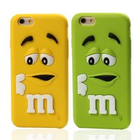 3D Cartoon MM Handy Fall Silikon Schokolade Design Zurück Abdeckung Schokolade Bean Phone Cover für Iphone5 Iphone6 ​​6 plus Iphone7 7 plus