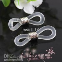 Wholesale Eyeglasses Holder Chain - Hot ! 300 Pcs New Clear Tone Ends for Eyeglasses Chain Holder 21 x 4 mm DIY Jewelry Connection
