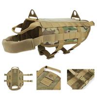 Wholesale Dog Tactical Vest - Tactical Patrol Dog Training Harness Law Enforcement Dog Vest Hunting Airsoft sports Gear