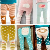 Wholesale Elephant Leggings - New kids cute Toddler animal PP Pants Baby Warmer Leggings Tights Baby Trousers Toddler Dog Elephant Sheep Pants 8 styles