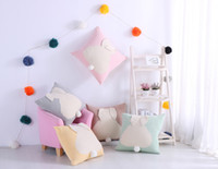 Wholesale Ear Covers Cat - Rabbit ear Cotton knitted Cushion Cover Home Office Sofa Square Cat Pillow Case Decorative Cushion Covers Pillowcases free ship