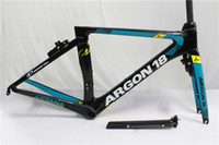 Wholesale Drop Seats - 2017 Newest 1:1 Astana argon 18 Carbon Frame UD Road Bicycle Frame Racing Bike Frame+Fork+Seat Post+Headset+Brakes+BB Adapter Size XS,S,M,L