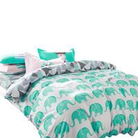 Wholesale Light Pink Comforter Set Queen - Svetanya Elephant bedding sets 100% cotton 4pcs Bedlinen Twin Double Queen duvet cover+flat sheet+pillowcase