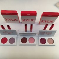 Wholesale Valentines Wear - Newest Kylie Eyeshadow 2 Colors Lipstick Kylie Jenner Valentines Collection Kyshadow Duos lip gloss Smooch,Kiss me,Sweet Heart Free DHL