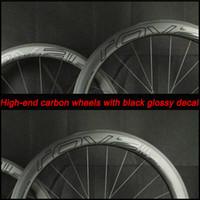 Wholesale Oem Road Bike Wheels - OEM carbon fiber bike road wheels 50mm deep clincher 700C V brake systern basalt brake skewer and brake pad included