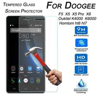 Wholesale f5 body - Wholesale-9H Tempered Glass Screen Protector for Doogee F5 X5 X5 Pro X6 Oukitel K6000 K4000 Homtom Ht6 Ht7 Ht3 Pro Protector Film