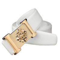 Wholesale Belt Bud Dress - Bud shape belt For summer dress Genuine leather Belt for men Fashion Vintage Male smooth Buckle free shipping
