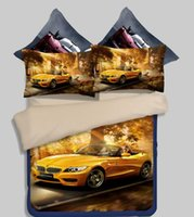 Wholesale Twin Size Car Bedding - Luxury 3D car bed linings Twin Full Queen King Size Bedding Set Bedding Supplies Quilt cover sheet pillowcase Home Textiles