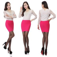 Wholesale Tight Pencil Skirts Sale - Multi Colors Hot Sales Women Pencil Skirt With High Waist Tight Office Skirt Fashion Slim Casual Package Hip Skirt