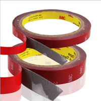 Wholesale Auto Mirror Adhesive - Size 8mm X 3M 3M Double-sided Auto Tape Acrylic Adhesive Car Styling Interior Tape Decoration Glue Sticker High Strength