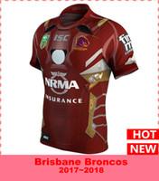 Wholesale El Shirt Iron Man - 2017 Newest Brisbane Broncos 2017 Marvel iron man jersey T-shirts Top quality rugby jerseys S-3XL