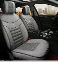 Wholesale Car Seat Covers Material - Car seat embroidery TOUAREG TOURAN TRANSPORTER UP for VW superior flax material classic colors bicolors 4 seasons