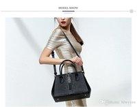 Wholesale Dot Wristlet - Pmsix 2017 Leather New Calf leather Women Bag Crocodile Pattern Large Package Fashion Shoulder Bag P120065