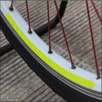 Wholesale Wheel Reflective Tape Bike - Wholesale- Leo 16 Strips Wheel Sticker Reflective Rim Stripe Tape MTB Road Bike Bicycle Cycling Wheel Rim Light Reflective Stickers