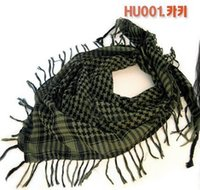 Atacado- Nova Design Hot Fashion Unisex 14 Cores Mulheres Homens Checkered Arab Grid Neck Keffiyeh Palestina Scarf Wrap Shawl Army green