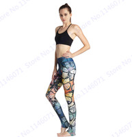 Wholesale Butterfly Print Leggings - Colorful Butterflies Yoga Pants Retro Butterfly Sports Running Leggings Fitness Pants Vintage Style Ladies Slim Tights Seamless