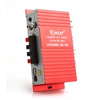 Wholesale ma usb - Red MA-180 Mini USB Car Boat Audio Auto Power Amplifier 2CH Stereo HIFI Amp 12V CEC_837