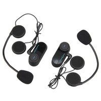 Wholesale Intercom Walkie Talkie Headsets - 2x800m BT interphone bluetooth motorcycle helmet intercom Headset Motorcycle Intercom motorcycle walkie talkie With FM Radi