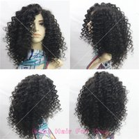 Wholesale Natural Hair Line Full Lace - Fashion Curly Full Lace Human Hair Wigs For Black Women Brazilian Virgin Hair Lace Front Wig With Natural Hair Line