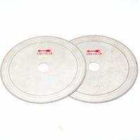 Wholesale disc cut resale online - 2Pcs quot Ultra thin diamond lapidary saw blade Gems Cutting Disc Arbor quot