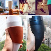 Wholesale Horn Cups Wholesale - Newest Goat Horns Stainless Steel Thermos Mug Coffee Cup Horn Mug Traveling Bottle With Rope Insulation Cups Free Shipping 230ml WX9-23