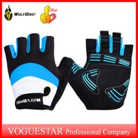 Wholesale Cycling gloves bike Breathable waterproof D GEL Anti slip for Mountain Road Cycling Anti shock Half Finger Bicycle Gloves OUT0381