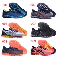 Wholesale Cm Boots - 2017 Wholesale GEL-QUANTUM 360 CM T6G1N 4101 Running Shoes Original For Men Buffer Shock Absorption Sneakers Sports Shoes Boots 40--45